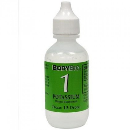 Liquid Mineral #1 Potassium BodyBio 60 ml Konz.