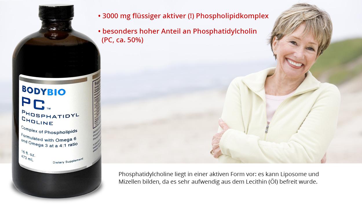 Phosphatidylcholin aus der Gruppe der Phospholipide ist ein wichtiger Baustein jeder menschlichen und tierischen Zellmembran.